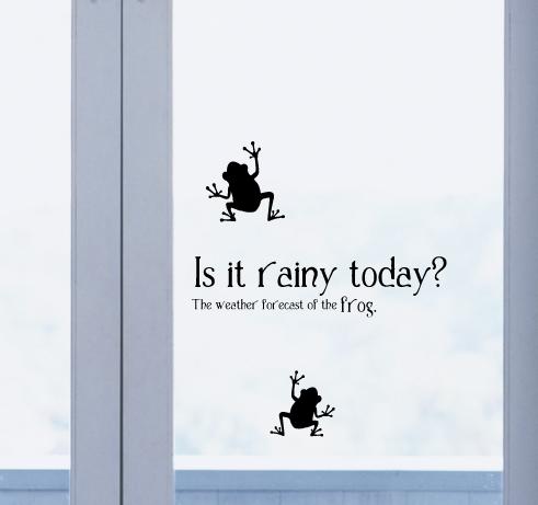 【ステッカー】カエルの天気予報