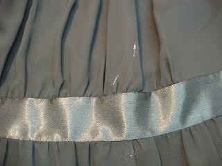 ドレス たべこぼしの汚れ