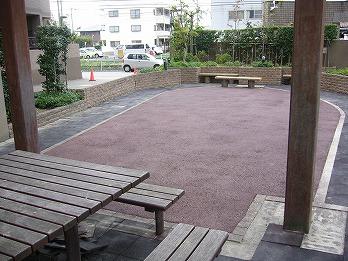マンション中庭 カラー舗装 北名古屋市