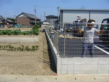 フェンス設置状況