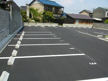 駐車場工事 アスファルト舗装 木曽川町