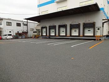 トラックヤードライン引き工事 飛島村