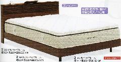 ルーシー-ワイドダブル モダンライト付ベッドフレーム