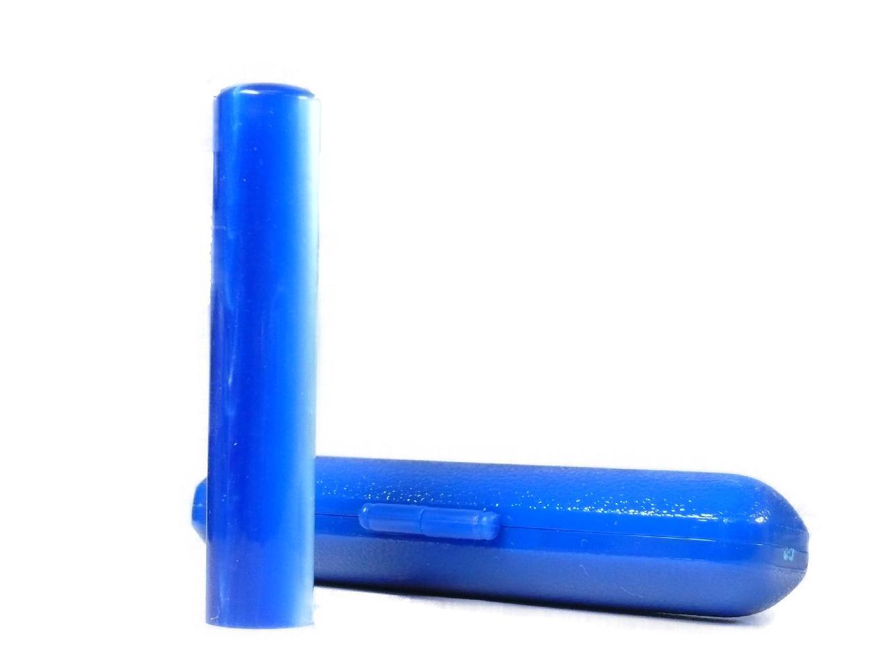 個人用 アクリルパール銀行印(紺)12.0×60mm専用ケース付