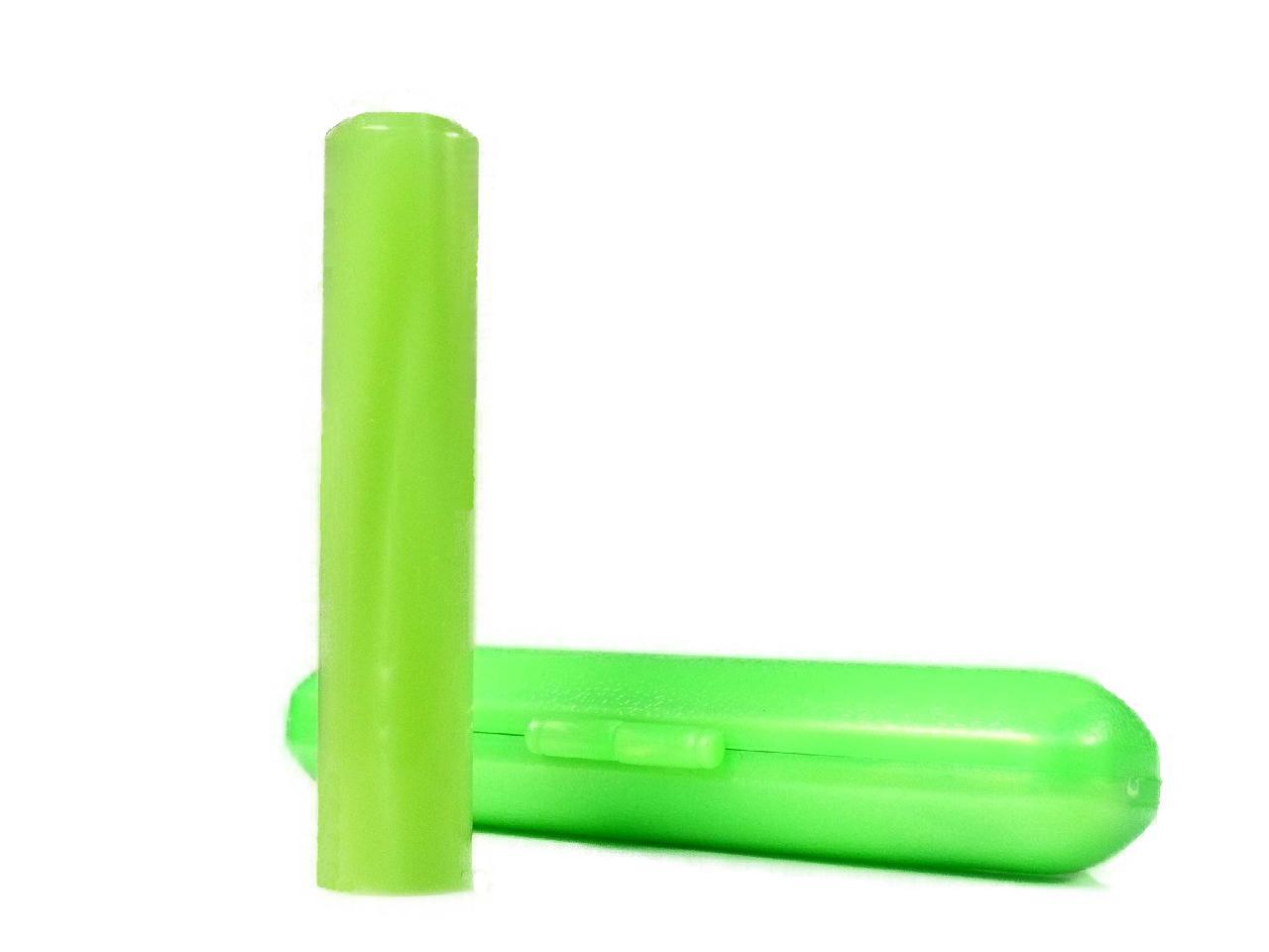 個人用 アクリルパール銀行印(黄緑)12.0×60mm専用ケース付