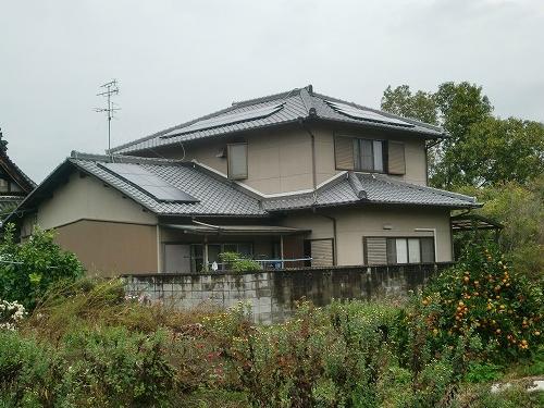 奈良県 太陽光設置 瓦使用