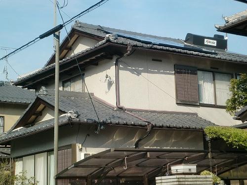 滋賀県 太陽光設置 瓦使用