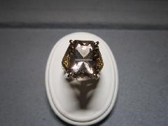 ≪T≫K18 国産煙水晶(大谷)リング