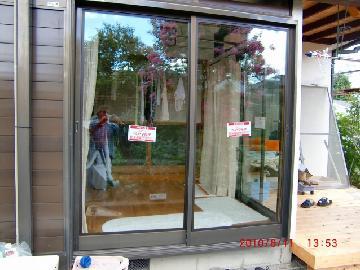 一戸建て エコガラス工事