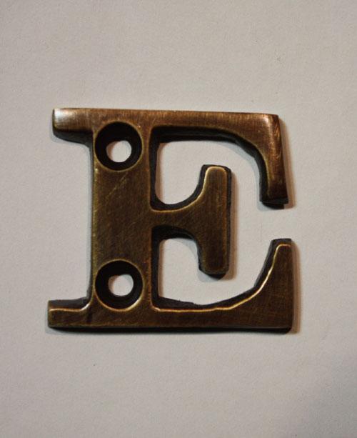 organオリジナル真鍮文字プレート/アルファベットE005