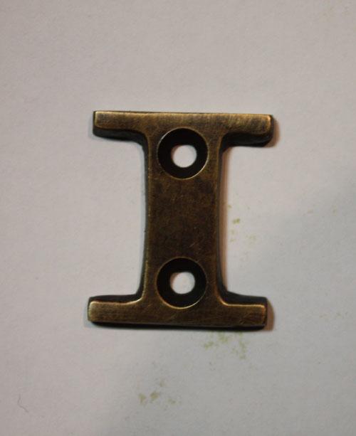organオリジナル真鍮文字プレート/アルファベットI009