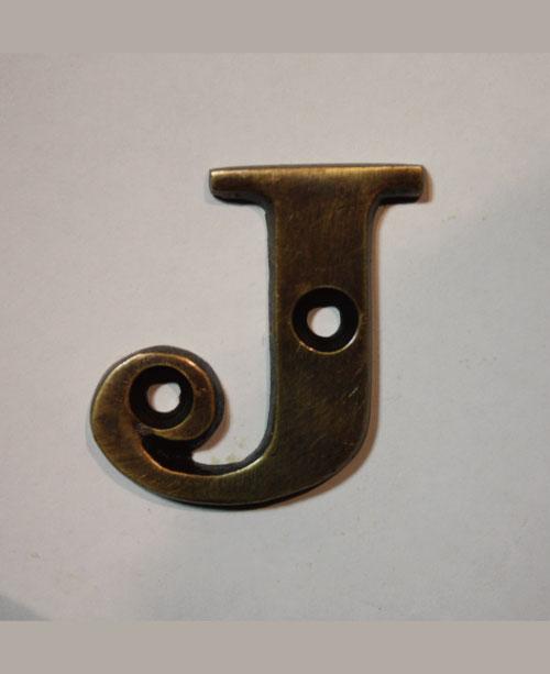 organオリジナル真鍮文字プレート/アルファベットJ010