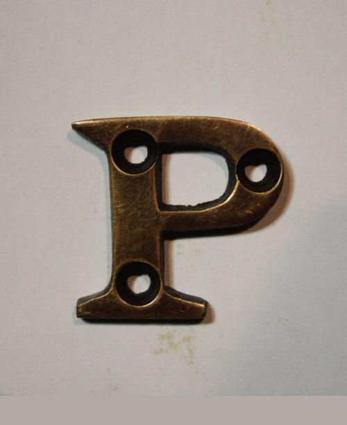 organオリジナル真鍮文字プレート/アルファベットP016