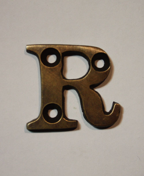 organオリジナル真鍮文字プレート/アルファベットR018