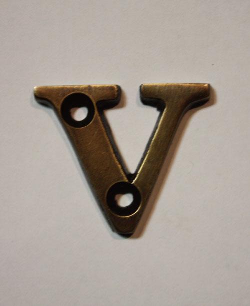 organオリジナル真鍮文字プレート/アルファベットV022