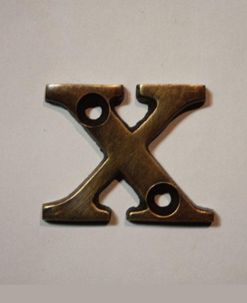 organオリジナル真鍮文字プレート/アルファベットX024