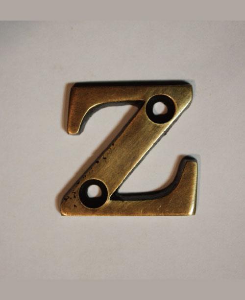organオリジナル真鍮文字プレート/アルファベットZ026