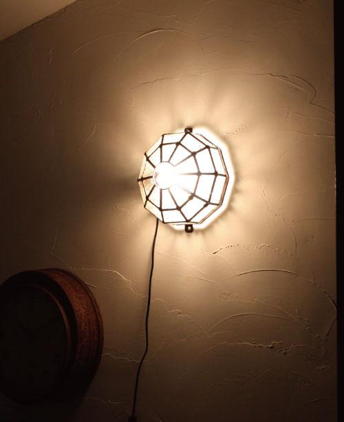 アイアン&ガラス ウォールランプシェード(壁掛け照明/ブラケットライト)クリア02