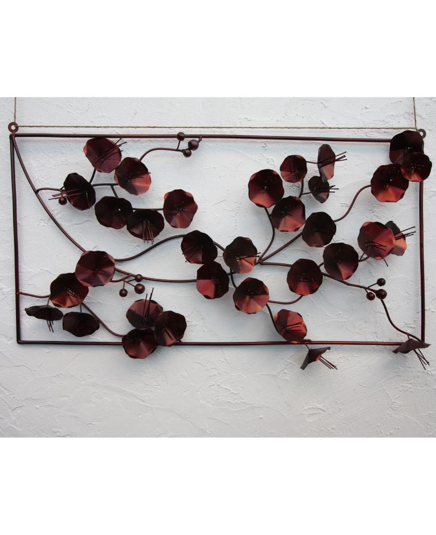 アイアン ウォールデコ(壁掛け飾り・アート)ツバキ