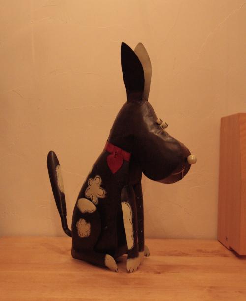アイアン キャンドルスタンド/ダークブラウン犬 DRONA0013 【アジアン雑貨】【バリ雑貨】