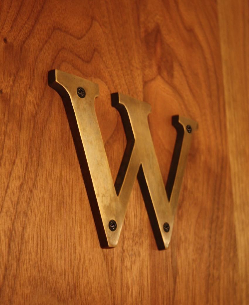 真鍮 文字プレート W(大)