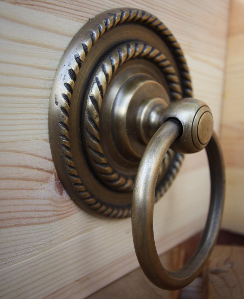 真鍮 ドアノック(ロープ)