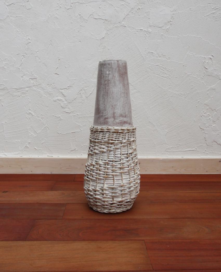 花器、フラワーベース(素焼き)アニー02