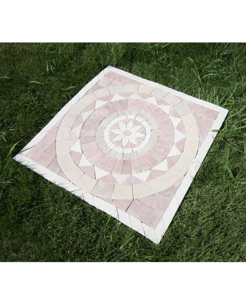 石アートタイル ピンク・ホワイト