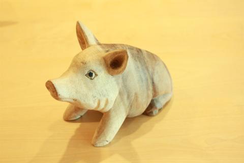 雑貨・置物/ブタ ミディアムWZO-LABSARI0002
