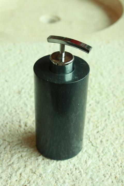 天然石(大理石)洗剤ディスペンサーボトル 黒系Mサイズ