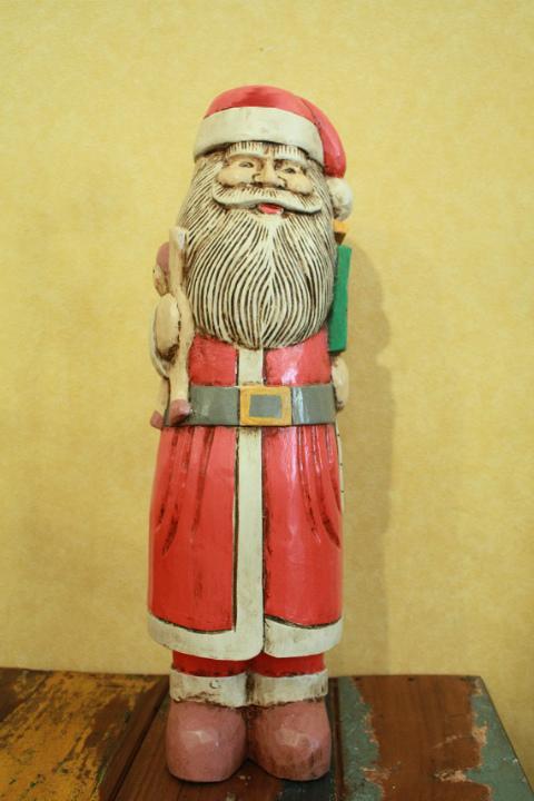 サンタ 木製置物 XL