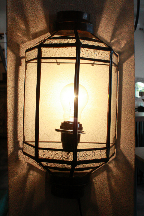 アイアン&ガラス ウォールランプシェード(壁掛け照明/ブラケットライト)クリア07