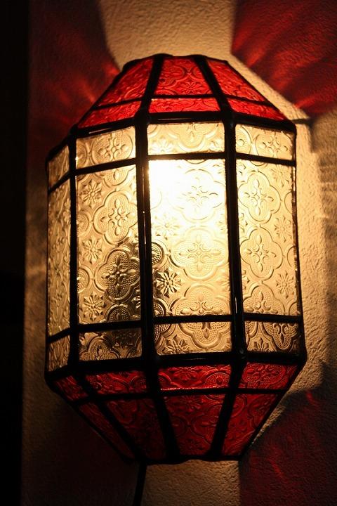 アイアン&ガラス ウォールランプシェード(壁掛け照明/ブラケットライト)MAレッド01