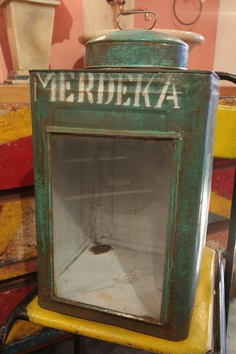 ブリキボックス(一斗缶) グリーン