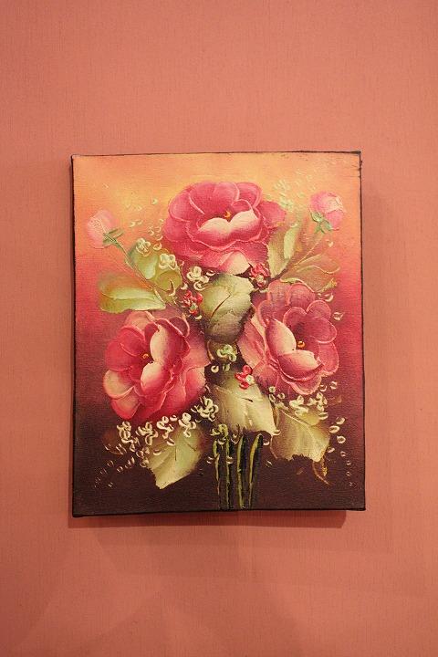 200×250 バラB (アートパネル、アート絵画、ハンドメイド)