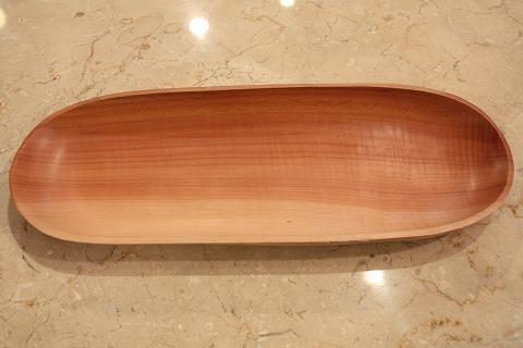 木の皿 楕円形 細