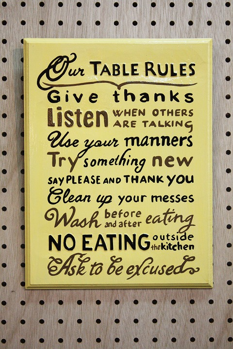 Rules Table A
