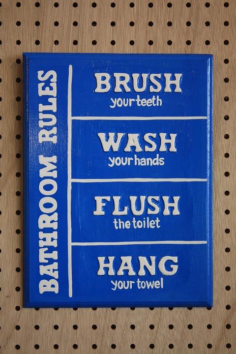 Rules Bathroom A