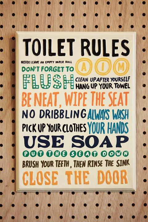 Rules Toilet C