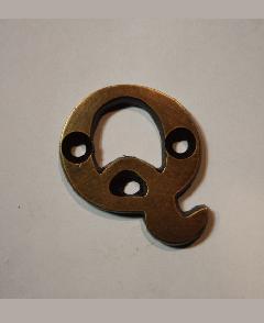 organオリジナル真鍮文字プレート/アルファベットQ017