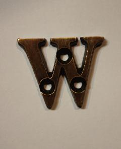 organオリジナル真鍮文字プレート/アルファベットW023