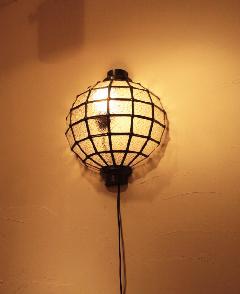 アイアン&ガラス ウォールランプシェード(壁掛け照明/ブラケットライト)クリア05