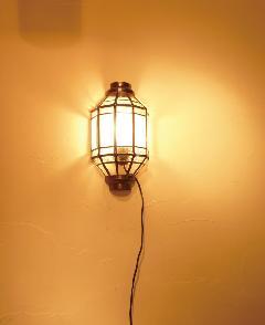アイアン&ガラス ウォールランプシェード(壁掛け照明/ブラケットライト)クリア04