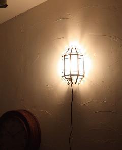 アイアン&ガラス ウォールランプシェード(壁掛け照明/ブラケットライト)クリア03