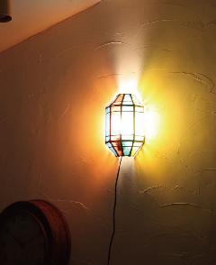 アイアン&ガラス ウォールランプシェード(壁掛け照明/ブラケットライト)カラフル01