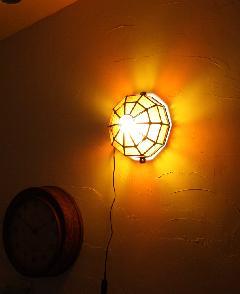 アイアン&ガラス ウォールランプシェード(壁掛け照明/ブラケットライト)オレンジ01
