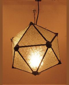 アイアン&ガラス ペンダントランプシェード(吊り下げ照明/ペンダントライト)クリア05