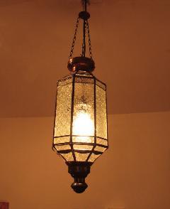 アイアン&ガラス ペンダントランプシェード(吊り下げ照明/ペンダントライト)クリア02