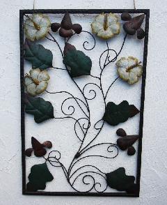 アイアン ウォールデコ(壁掛け飾り・アート)フロックス・ドラモンディー