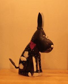 アイアン キャンドルスタンド/黒い犬 DRONA0015 【アジアン雑貨】【バリ雑貨】